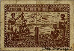 1 Franc AFRIQUE OCCIDENTALE FRANÇAISE (1895-1958)  1944 P.34 B+