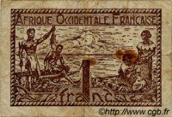 1 Franc AFRIQUE OCCIDENTALE FRANÇAISE (1895-1958)  1944 P.34 TB