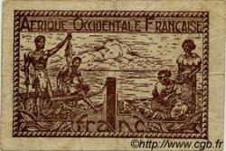 1 Franc AFRIQUE OCCIDENTALE FRANÇAISE (1895-1958)  1944 P.34 TB à TTB