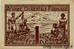 1 Franc AFRIQUE OCCIDENTALE FRANÇAISE (1895-1958)  1944 P.34 SUP+