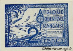 2 Francs AFRIQUE OCCIDENTALE FRANÇAISE (1895-1958)  1944 P.35 pr.NEUF