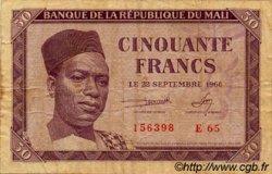 50 Francs MALI  1960 P.01 TB