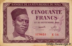 50 Francs MALI  1960 P.01 TTB+