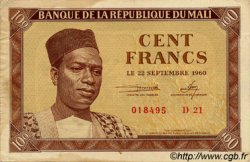 100 Francs MALI  1960 P.02 TTB