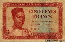 500 Francs MALI  1960 P.03