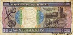 100 Ouguiya MAURITANIE  1985 P.04c TB