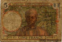 5 Francs AFRIQUE ÉQUATORIALE FRANÇAISE Brazzaville 1941 P.06a AB