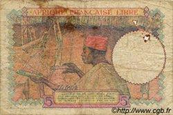 5 Francs AFRIQUE ÉQUATORIALE FRANÇAISE  1942 P.06 B+