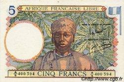 5 Francs AFRIQUE ÉQUATORIALE FRANÇAISE  1942 P.06 SPL