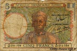 5 Francs AFRIQUE ÉQUATORIALE FRANÇAISE  1942 P.06 pr.B