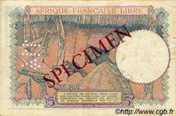 5 Francs AFRIQUE ÉQUATORIALE FRANÇAISE Brazzaville 1941 P.06s TTB