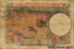 5 Francs AFRIQUE ÉQUATORIALE FRANÇAISE Brazzaville 1941 P.06a B