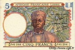 5 Francs AFRIQUE ÉQUATORIALE FRANÇAISE  1943 P.06 SPL