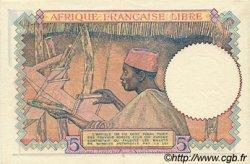 5 Francs AFRIQUE ÉQUATORIALE FRANÇAISE Brazzaville 1941 P.06a SPL