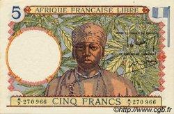 5 Francs AFRIQUE ÉQUATORIALE FRANÇAISE  1941 P.06a pr.NEUF
