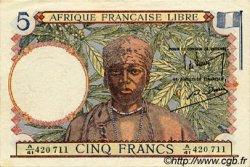 5 Francs AFRIQUE ÉQUATORIALE FRANÇAISE  1943 P.06 SUP