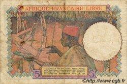 5 Francs AFRIQUE ÉQUATORIALE FRANÇAISE  1944 P.06 TB