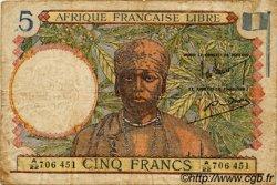 5 Francs AFRIQUE ÉQUATORIALE FRANÇAISE  1942 P.06 TB