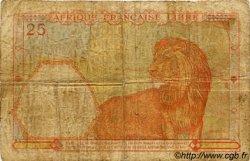 25 Francs AFRIQUE ÉQUATORIALE FRANÇAISE  1942 P.07a B