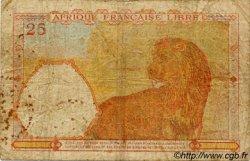 25 Francs AFRIQUE ÉQUATORIALE FRANÇAISE  1943 P.07a B