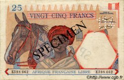 25 Francs AFRIQUE ÉQUATORIALE FRANÇAISE  1943 P.07s TTB