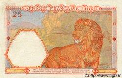 25 Francs AFRIQUE ÉQUATORIALE FRANÇAISE  1943 P.07a TTB+