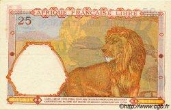 25 Francs AFRIQUE ÉQUATORIALE FRANÇAISE Brazzaville 1941 P.07a SUP