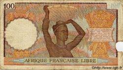 100 Francs AFRIQUE ÉQUATORIALE FRANÇAISE  1943 P.08 pr.TB