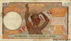 100 Francs AFRIQUE ÉQUATORIALE FRANÇAISE  1943 P.08s TB+