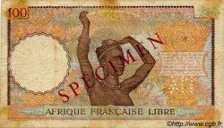 100 Francs AFRIQUE ÉQUATORIALE FRANÇAISE Brazzaville 1941 P.08s TB+