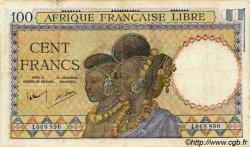 100 Francs AFRIQUE ÉQUATORIALE FRANÇAISE Brazzaville 1943 P.08 pr.TTB