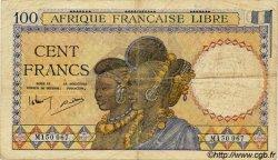 100 Francs AFRIQUE ÉQUATORIALE FRANÇAISE  1943 P.08 TB+