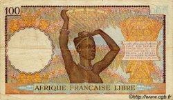 100 Francs AFRIQUE ÉQUATORIALE FRANÇAISE Brazzaville 1943 P.08 TB+