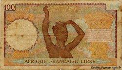 100 Francs AFRIQUE ÉQUATORIALE FRANÇAISE  1943 P.08 B+