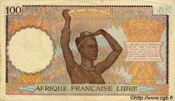 100 Francs AFRIQUE ÉQUATORIALE FRANÇAISE  1943 P.08 TTB+