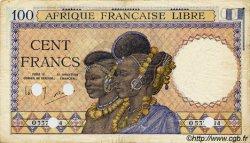 100 Francs AFRIQUE ÉQUATORIALE FRANÇAISE  1943 P.08 TTB