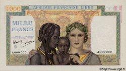 1000 Francs AFRIQUE ÉQUATORIALE FRANÇAISE  1942 P.09s pr.NEUF