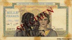 1000 Francs AFRIQUE ÉQUATORIALE FRANÇAISE  1942 P.09s pr.TTB