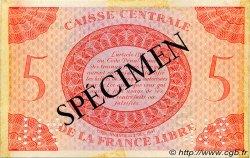 5 Francs type 1941 AFRIQUE ÉQUATORIALE FRANÇAISE  1944 P.10s TTB