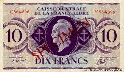 10 Francs type 1941 AFRIQUE ÉQUATORIALE FRANÇAISE  1943 P.11s SUP