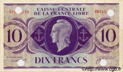 10 Francs type 1941 AFRIQUE ÉQUATORIALE FRANÇAISE  1943 P.11s pr.SUP
