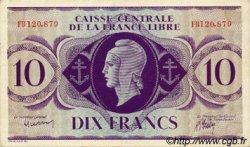 10 Francs type 1941 AFRIQUE ÉQUATORIALE FRANÇAISE  1943 P.11a SPL