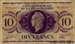 10 Francs AFRIQUE ÉQUATORIALE FRANÇAISE Brazzaville 1944 P.11a pr.TB