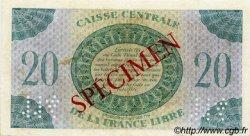 20 Francs type 1941 AFRIQUE ÉQUATORIALE FRANÇAISE  1944 P.12s TTB