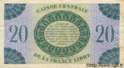 20 Francs type 1941 AFRIQUE ÉQUATORIALE FRANÇAISE  1944 P.12a TTB+