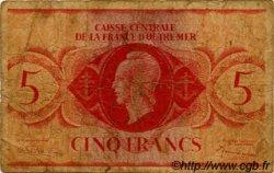 5 Francs type 1943 AFRIQUE ÉQUATORIALE FRANÇAISE  1943 P.15c B