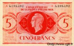5 Francs type 1943 AFRIQUE ÉQUATORIALE FRANÇAISE  1943 P.15d NEUF