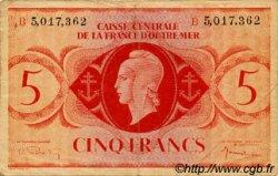 5 Francs type 1943 AFRIQUE ÉQUATORIALE FRANÇAISE  1943 P.15e TB