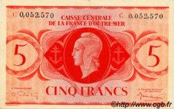 5 Francs type 1943 AFRIQUE ÉQUATORIALE FRANÇAISE  1943 P.15f SUP à SPL