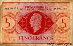 5 Francs type 1943 AFRIQUE ÉQUATORIALE FRANÇAISE  1943 P.15a TB